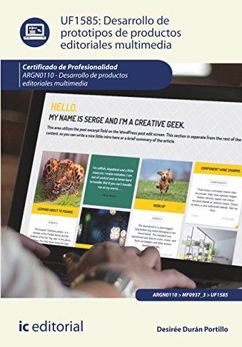 Desarrollo de prototipos de productos editoriales multimedia. ARGN0110