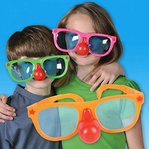 Kipp Brothers Inc. Jumbo Kunststoff Sonnenbrillen w Clownwekzeugspritze