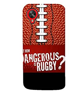 PrintVisa Sports Rugby Quotes 3D Hard Polycarbonate Designer Back Case Cover for LG Google Nexus 5