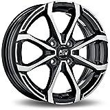 MSW X4 Black Full Polished 7x16 ET37 4x100 Llantas de aleación