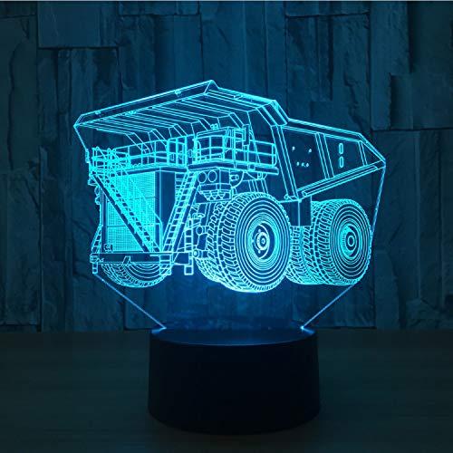 Nachtlichter super lkw   7 farben lampe 3d visuelle led für kinder touch usb tischlampe baby schlaf nachtlicht motion lampe 16x20 cm -