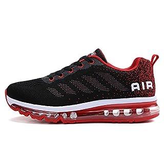 TORISKY Unisex Sportschuhe Laufschuhe Sneakers Turnschuhe Fitness Mesh Air Leichte Schuhe Rot Schwarz Weiß (A61-Red40) n4kjv1