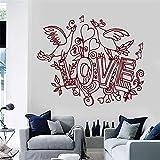 stickers muraux proverbe Love Birds Romance Home Room Amour pour la chambre Salon