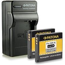 4in1 Caricabatteria + 2x Batteria NB-8L per Canon A2200 | A3000is | ...