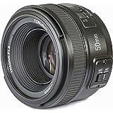 Yongnuo YN50mm Nikon–Objektiv für Kameras DSLR (F/1.8, 58mm, AF/MF), Schwarz