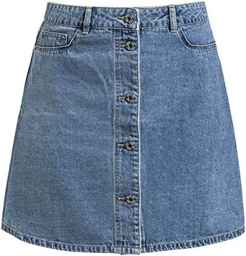 Noisy may Damen NMSUNNY SHORTDNM Skater Skirt GU123 NOOS Rock, Blau (Medium Blue Denim Medium Blue Denim), 34 (Herstellergröße: XS)