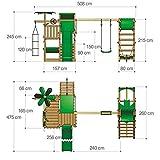 FATMOOSE BananaBeach Big XXL Spielturm mit Surfanbau Schaukel und Rutsche - 5