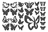 "I-love-Wandtattoo Sticker mural 10235 Sticker mural ""Papillons (25 pièces) Chambre Stickers muraux Stickers muraux orange pastel"