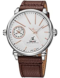 Weide Big   Bold Dial Dual Time zonewith Genuine Leather band  a678e9a567d