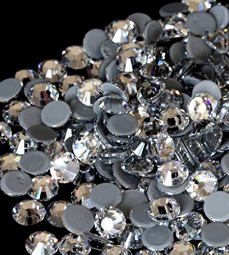 PENVEAT Beste Qualität frei AB Kristallrhinestone-super helle Glas Strass Eisen auf Rhinestones für Stoff Kleidungsstück, kristallklar, 16ss 1440pcs -