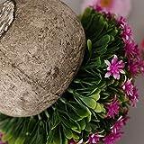 Fenteer Künstliche Gypsophila Bonsai Pflanzen im Topf Kunstpflanze Dekopflanzen Topfpflanzen - Lila - 4