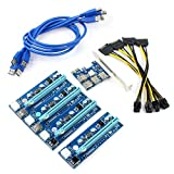WBTUO Carte de riser PCIe 1 à 4 Carte de montage PCI Express 16X Slots Carte PCI-E...