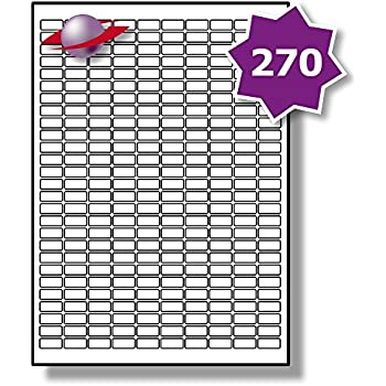 UK LP189//25 General//All Purpose 25.4 x 10 MM 945 Sticky SMALL MICRO Labels 5 Sheets Label Planet/® White Blank Matt Self-Adhesive Plain A4 Stickers FOR JAM FREE PRINTING 189 Per Page//Sheet Printable With Laser//Copier or Inkjet Printer