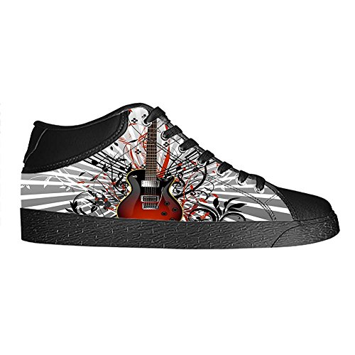 Dalliy Music Note And Guitar Men's Canvas shoes Schuhe Lace-up High-top Sneakers Segeltuchschuhe Leinwand-Schuh-Turnschuhe D
