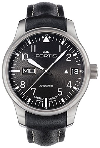 limited-edition-fortis-f-43-flieger-automatic-day-date-steel-mens-strap-watch-7001081-l01