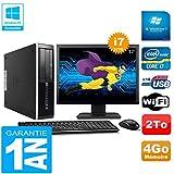 HP PC Compaq Pro 6300 SFF I7-3770 4Go 2To Graveur DVD WiFi W7 Ecran 17'