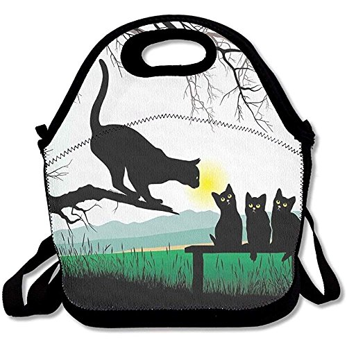 9d9784ce63b4 Mother Cat On Tree Branch And Baby Kittens In Park Best Friends I Love My  Kitty Graphic Lunch Bag Tote For School Work Outdoor