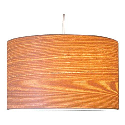 Woody echt Holz (Weide) Furnier Lampenschirm für Tischleuchten und Hängeleuchten H:22 cm (D:36cm) für E27