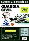 PAQUETE AHORRO BÁSICO Guardia Civil 2018 AHORRO DE 81 €. (incluye Temarios 1 y 2; Test; Simulacros de Examen 1 y 2; y acceso a Campus Oro)