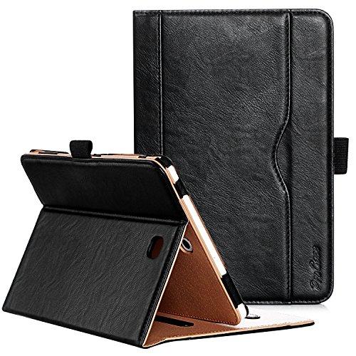 ProCase Leder Klapphülle für Galaxy Tab S2 8.0 - Leder Stand Folio Tasche für 2015 Galaxy Tab S2 Tablet (8.0 Zoll,SM-T710 T715 T713) -Schwarz
