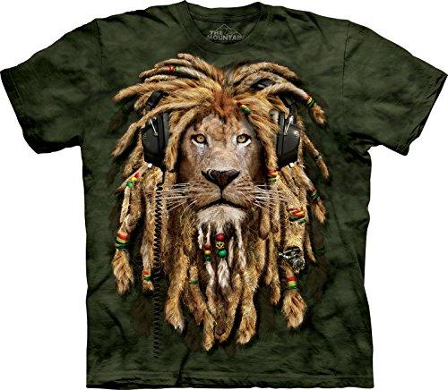 the-mountain-unisex-kinder-gr-m-dj-jahman-rasta-loewe-t-shirt