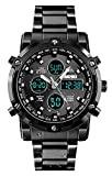 Mens Digital Sports Watch Military Waterproof Analogue Watch with Alarm/Dual Time/Countdown/Stopwatch, Big Face