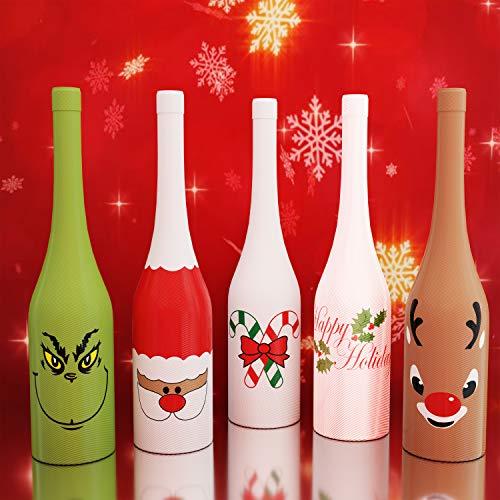 schenabdeckungen und Dekorationen für Weinflaschen, einzigartiges Weindekor, 5er-Set ()