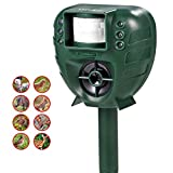 Cat Repellent, Ymiko Ultrasonic Cat Repeller Outdoor Battery Operated Waterproof Cat Fox Deterrent