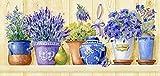 grafitec Gedruckt Tapisserie/Set–Lavendel Töpfe