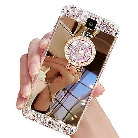 Sunroyal Rhinestone Coque pour Samsung Galaxy S5 Diamant Bling Luxe