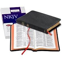 NKJV Pitt Minion Reference Edition NK446:XR black goatskin leather
