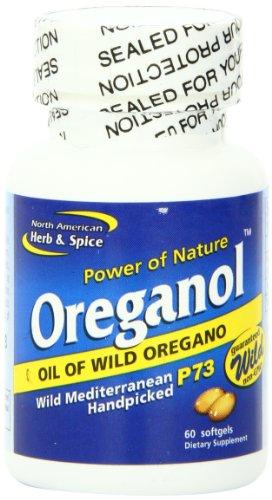 North American Herb & Spice Complément alimentaire Oreganol P73 - A base d'huile d'origan sauvage - 60 gélules