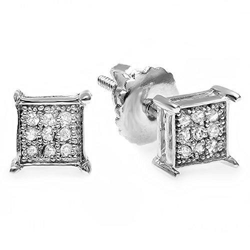 0,06quilates (de quilate) redondo diamante forma cuadrada hombres de