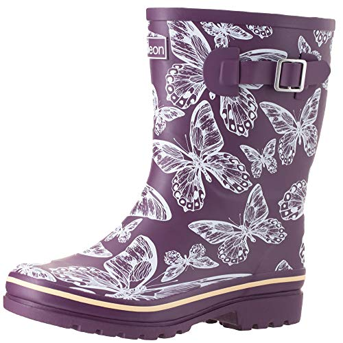 Jileon Half Height Wellington Boots for Women -Wide in Foot (EEE) and Ankle- Durable Boots for All Weathers - 4 Designs