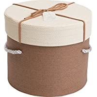 Emartbuy Rígido De Lujo Cilíndrica Caja De Regalo / Presentación, Caja Marrón Con Tapa De Color Beige, Marrón Chocolate Y El Interior De Gamuza Marrón Cinta Decorativa