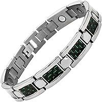Willis Judd Magnetisches Armband Titan Karbonfaser Grün Größe verstellen Werkzeug und Geschenkbox Enthalten preisvergleich bei billige-tabletten.eu
