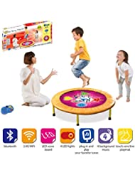 ViVo© Kids Dancing Trampoline Game with Sounds and Music the perfect workout mini-trampoline mat for any child and hours of fun educational light, shapes, co-ordination - Bluetooth and Wifi Compatible, works with iPhone / Android / Spotify / Apple Music / iTunes