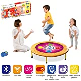 ViVo© Kids Dancing Trampoline Game with Sounds and Music the perfect workout mini-trampoline mat for any child and hours of fun educational light, shapes, co-ordination - Bluetooth and Wifi Compatible, works with iPhone / Android / Spotify / Apple Music / iTunes - Vibrant Pink