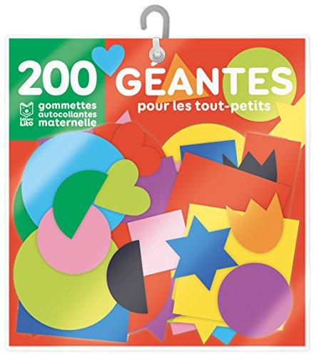 200 gommettes géantes pour les tout-petits avec support - De 3 à 5 ans