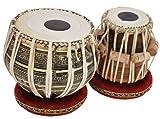 Sai Musical Sheesham Wood TB-0092 Hand Made Brass Tabla Set Black Color - A Musical Instrument.