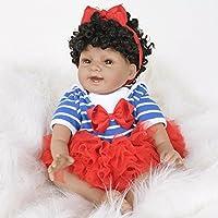 TUJHGF Reborn Baby Doll Girl Toy Gift Simulation Silicone Newborn Baby Brown Eyes 55 Cm,A