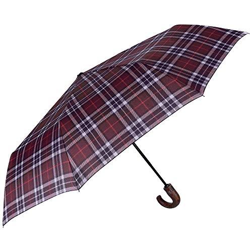 Paraguas Plegable Hombre Escoces Grante Mango Curvo