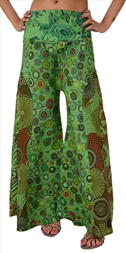 Skirts & Scarves Cotton Wide Leg Printed Plazo Pant for Women