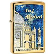 Zippo–Mechero de Taj Mahal resistente al viento bolsillo alta Polaco latón