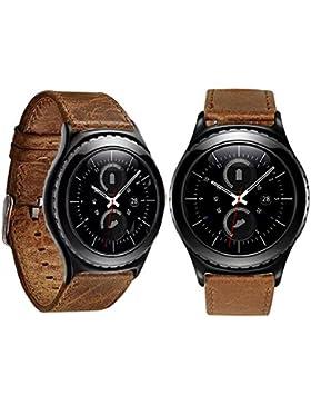 Ouneed® Uhrenarmbänder , Luxus Echtes Leder Uhrenarmband Armband für Samsung Galaxy Gear S2 Classic