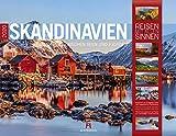 Skandinavien 2020, Wandkalender im Querformat (54x42 cm) - Reisekalender Norwegen, Schweden, Finnland, Dänemark und Island mit Monatskalendarium (Reisen mit allen Sinnen)