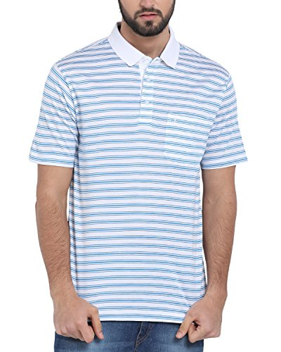 Classic Polo Blue Striped T-Shirt for Men