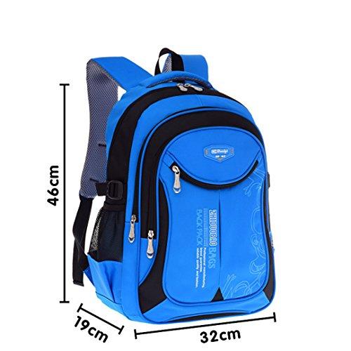 Kinder Schultaschen für Mädchen Jungen Kinder Rucksack in der Grundschule Rucksäcke blue black L