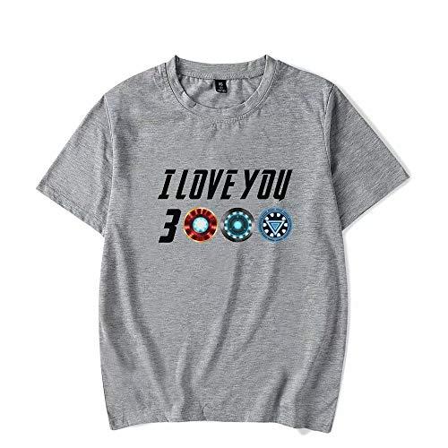 Unisex T-Shirt Ich Liebe Dich 3000 Superhelden T-Shirt Sommer Kurzarm T-Shirt Top Sweatshirt Lässige Mode Liebhaber für Männer, Frauen, Papa und Jugend Perfekte Idee für den Vatertag (Super Paare Kostüme Hero)