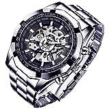 Reloj de pulsera para hombre, de la marca GuTe, con esqueleto descubierto, en...